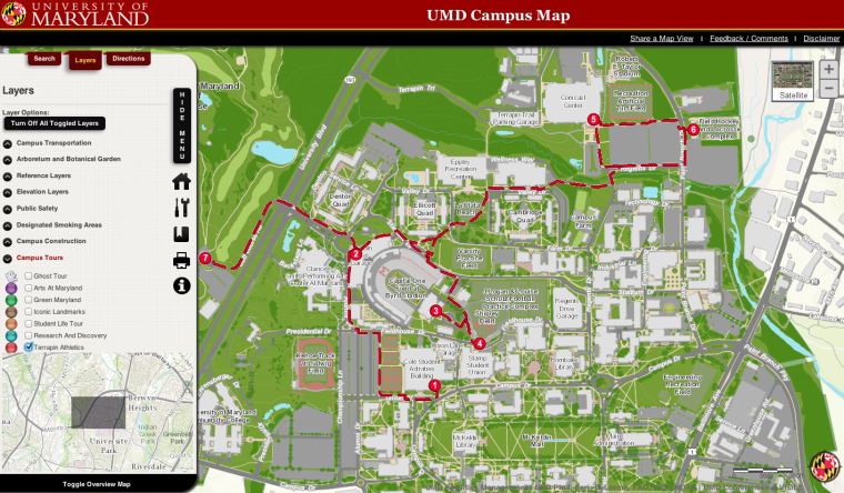 University Of Maryland Web Map Overhaul Brings Interactive Features Tours The Diamondback