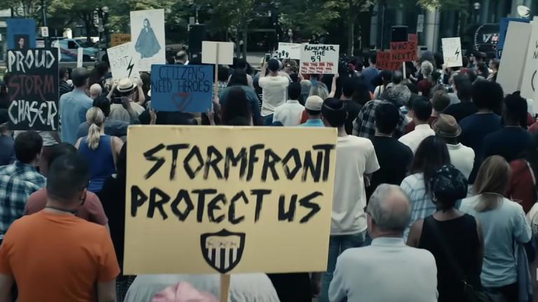 Una manifestación pro-Stormfront