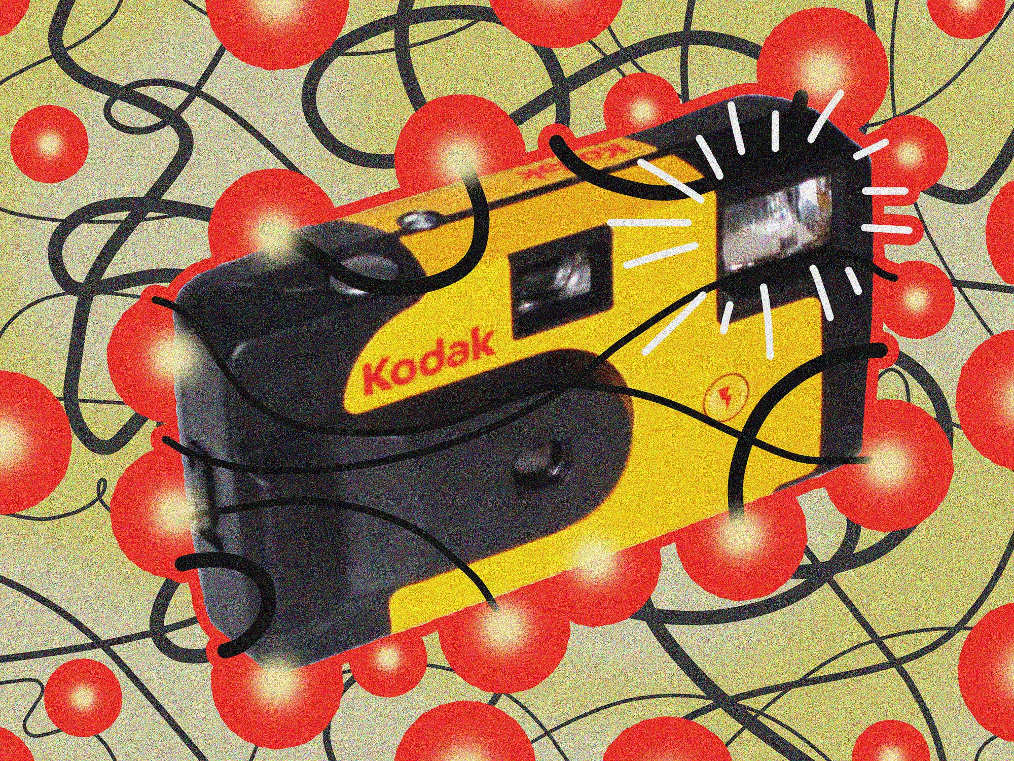Illustration of a Kodak disposable camera