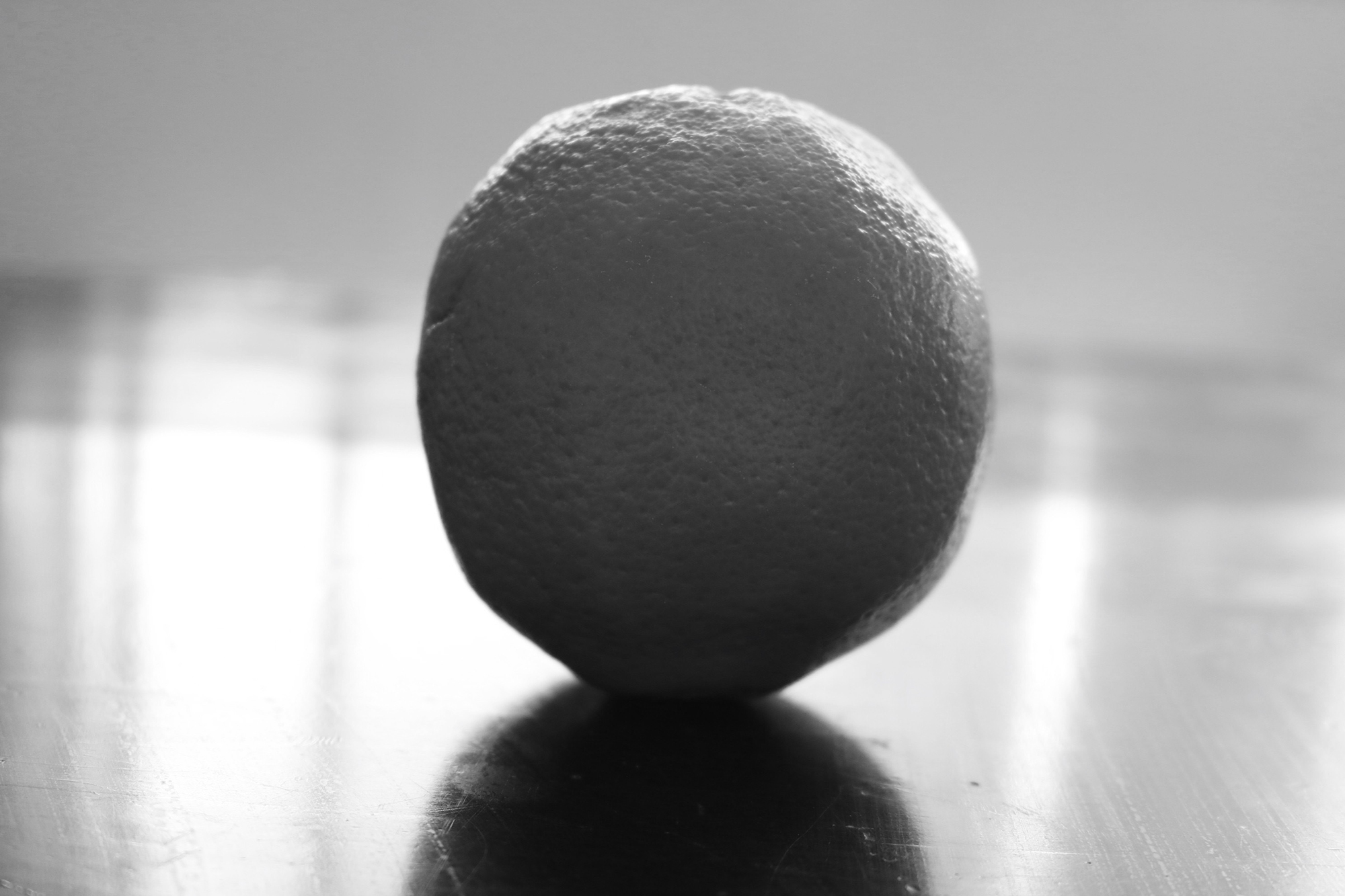 A black and white ball